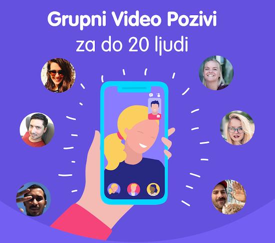 Grupni video pozivi na Viberu u Srbiji