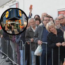 HAOS OKO LIDLA U SRBIJI NE PRESTAJE! Kupci od OSAM UJUTRU OKUPIRALI objekte koji se tek otvaraju za NEKOLIKO MESECI!