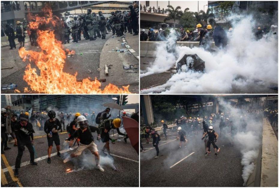 HAOS U HONGKONGU: Demonstranti se opremili ciglama, šipkama i praćkama, policija odgovorila suzavcem! (FOTO, VIDEO)