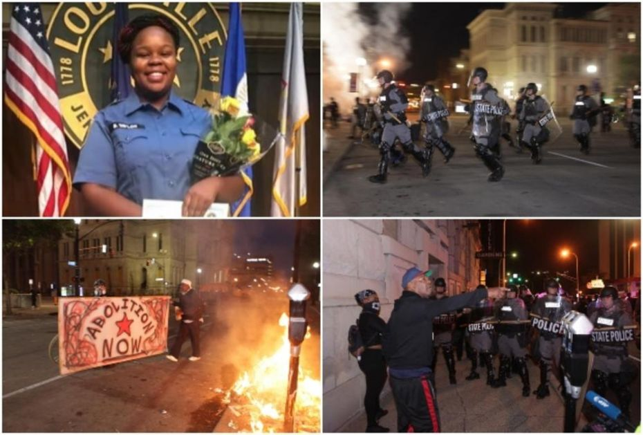 HAOS U LUISVILU ZBOG BRUTALNOG UBISTVA AFROAMERIKANKE: Ranjeni policajci, Nacionalna garda na ulicama (VIDEO)