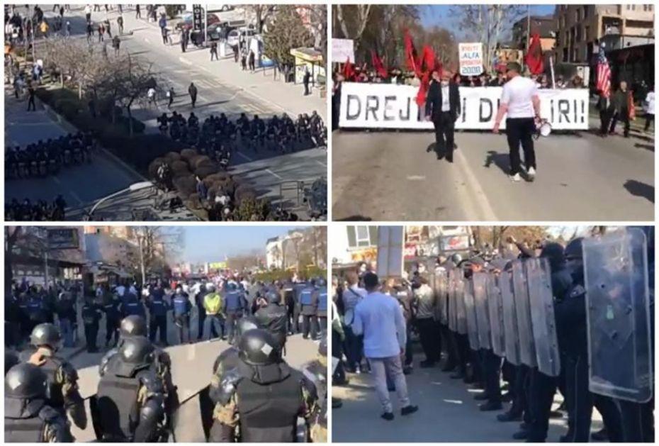 HAOS U SKOPLJU Albanci izašli na ulice da podrže ubice iz slučaja Monstrum, policija ih zasula šok-bombama! Privedeno osmoro VIDEO