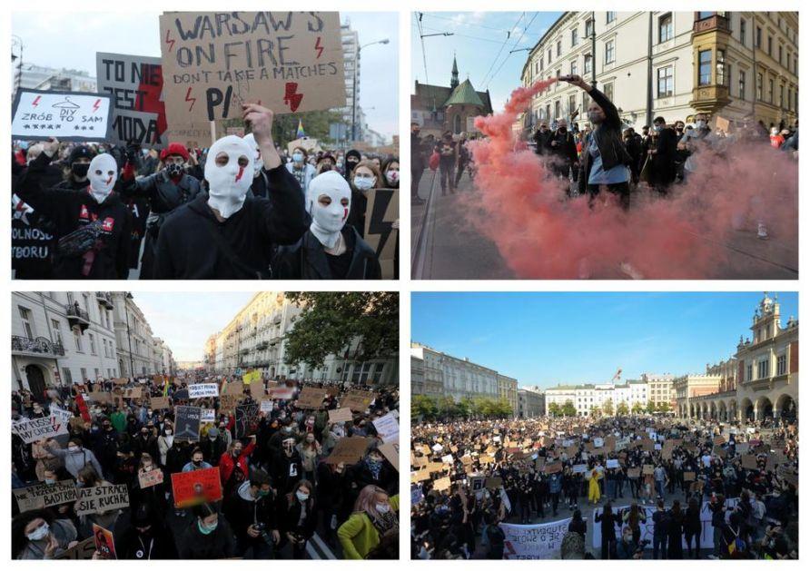 HILJADE POLJAKA NA ULICAMA: Protesti zbog zabrane abortusa ne prestaju već 7 dana!
