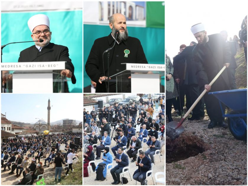 HISTORICAL DAY – Cornerstone laid for new building of Gazi Isa-beg Madrasa