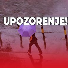 HITNO UPOZORENJE RHMZ! U narednih sat vremena intenzivini pljuskovi i grmljavina u ovim delovima Srbije