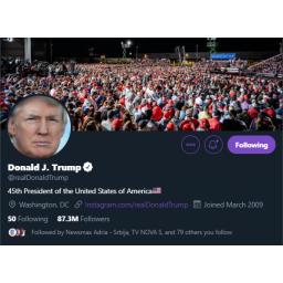 Haker pogodio lozinku Trampovog Twitter naloga, Tajna služba mu se zahvalila na upozorenju