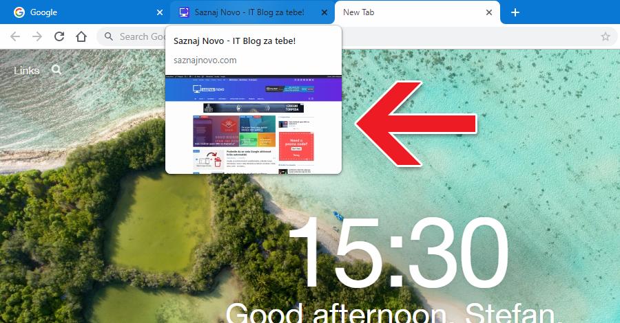 Hover Cards: moja nova omiljena opcija u Chrome-u