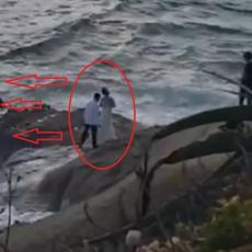 Hteli su romantične fotografije na steni - sledećeg trenutka, BORILI su se da im SPASU ŽIVOTE! (VIDEO)
