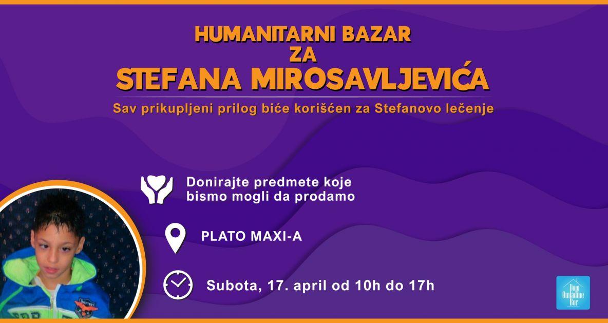 Humanitarni bazar za pomoć Stefanu Mirosavljeviću u organizaciji Doma omladine Bor