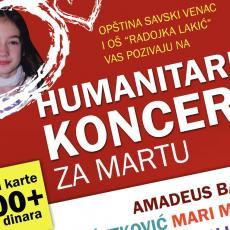 Humanitarni koncert za Martu! Nastupaju Sergej Ćetković, Amadeusbend, Mari Mari i mnogi drugi!