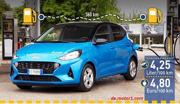 Hyundai i10 sa 67 KS na deonici od 360 km prosečno trošio 4,25 l/100 km