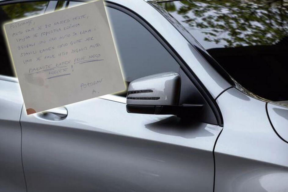 IMA DOBRIH LJUDI: Zagrepčanin traži čoveka koji mu je pomogao i ostavio ovu poruku na automobilu FOTO
