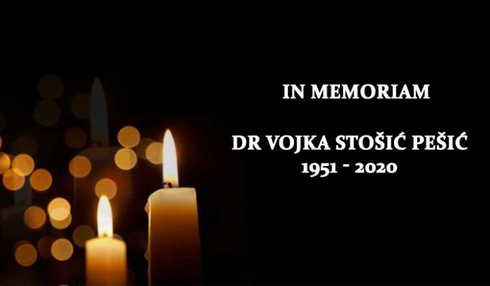 IN MEMORIAM: Dr Vojka Stošić Pešić