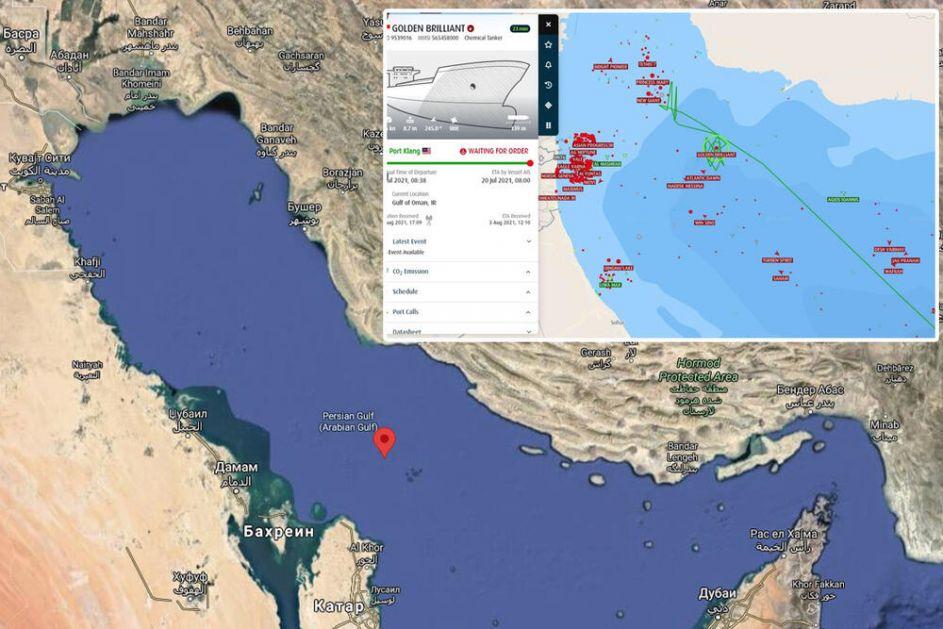 INCIDENT U OMANSKOM ZALIVU: 4 broda poslala pozive u pomoć, sumnja se da Iran stoji iza napada