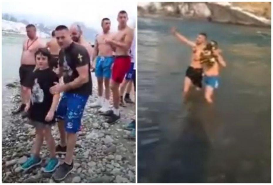 IPAK SE PLIVALO U CRNOJ GORI ZA ČASNI KRST: Dečak Vuk (10) najbrži bio u Beranama, u Bijelom Polju Marko Drobnjak (VIDEO)