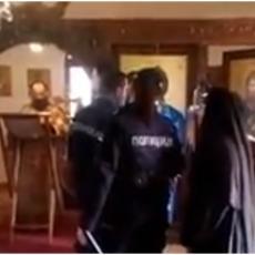 ISPLIVAO SNIMAK na kome se navodno vidi kako policija rasteruje vernike iz crkve kod Velike Plane, OVO JE PRAVA ISTINA