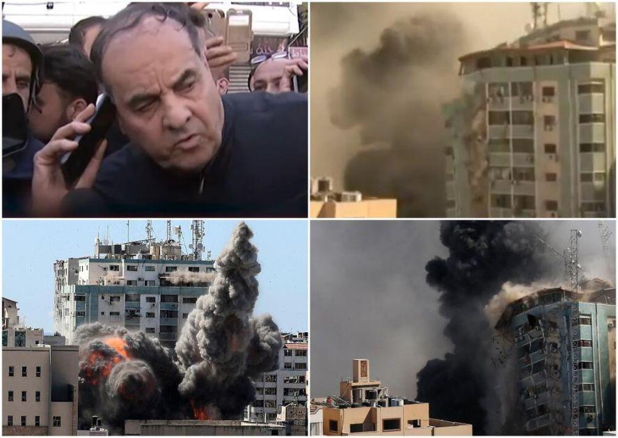 IZRAEL UNIŠTIO SEDIŠTE AP I AL DŽAZIRE U GAZI: Vlasnik zgrade od 12 spratova pre napada pričao sa IDF pred kamerama, ali uzalud!