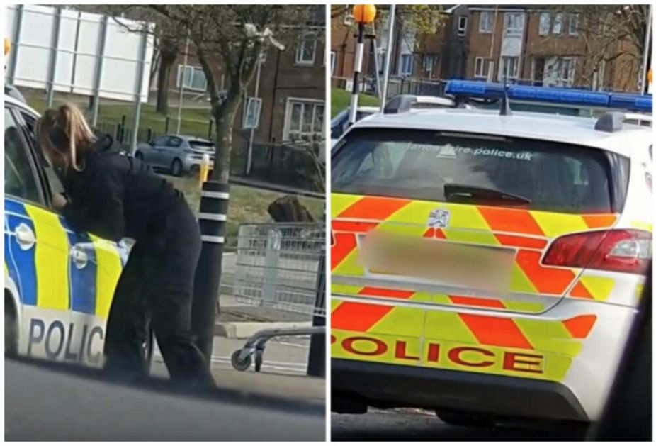 IZVINJENJE ZBOG RAZMENE NEŽNOSTI Policajci uhvaćeni na delu u službenom automobilu, šokirani građani sve snimili VIDEO