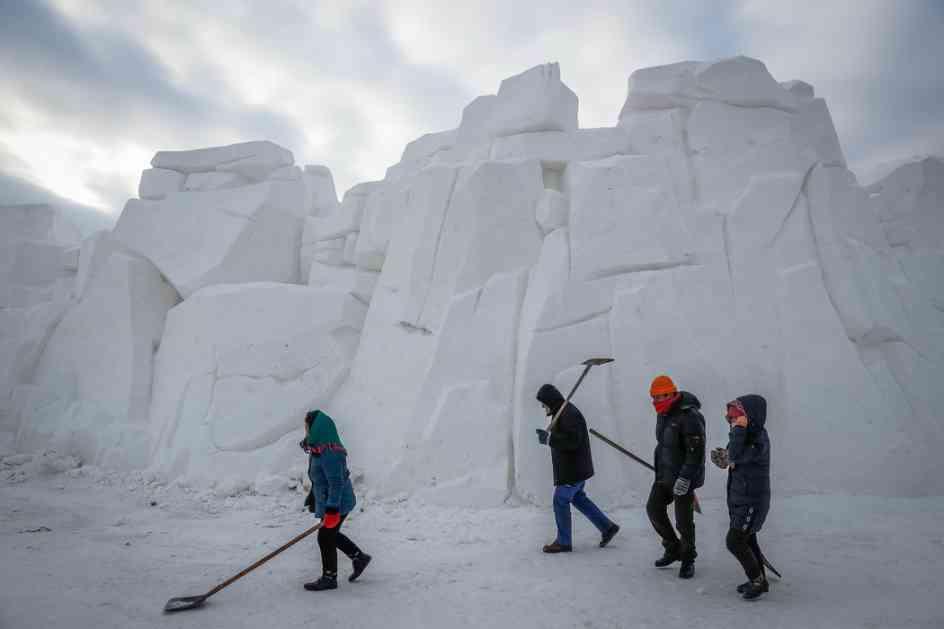 Istopile se skulpture na Festivalu leda
