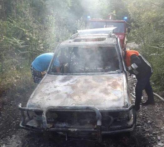 Izgorio automobil u Bijelom Polju