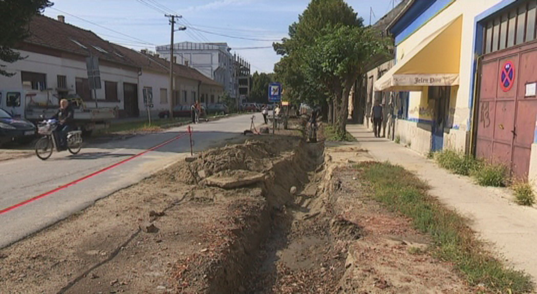 Izgradnja atmosferske kanalizacije u Dositejevoj ulici u Kikindi