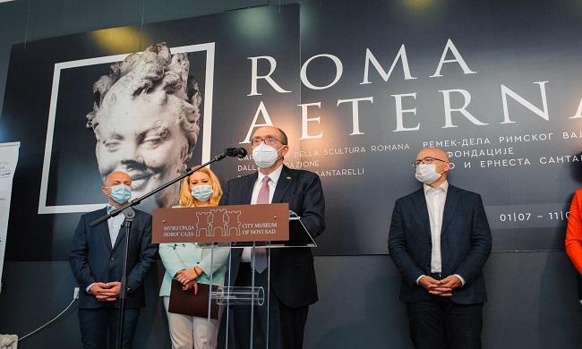 Izložba ROMA AETERNA do septembra u Novom Sadu