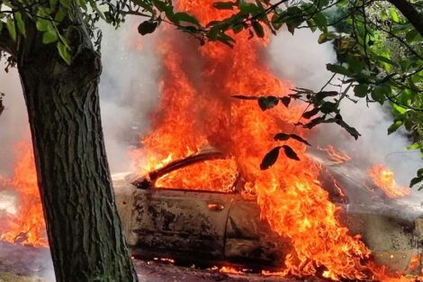 Iznajmljivanje vikendice na Fruškoj gori krenulo po zlu – požar progutao auto