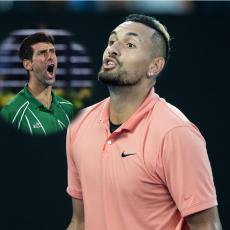 JEDVA DOČEKAO: Kirjos se raduje zbog Novakovog poraza (FOTO)