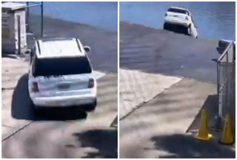 JEDVA IZVUKLA ŽIVU GLAVU: Pritisnula papučicu za gas umesto kočnice, pa sletela u reku! (FOTO, VIDEO)