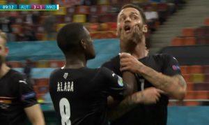 'JE**O SAM TI MAJKU': Arnautović umalo napraivo haos, dao gol pa totalno izgubio živce – Alaba ga jedva obuzdao! (VIDEO)