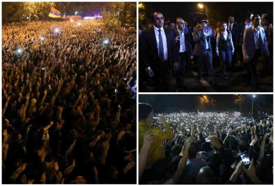 JERMENIJA OPET NA NOGAMA: Premijer Pašinjan predvodi demonstracije i traži prevremene izbore! (VIDEO)