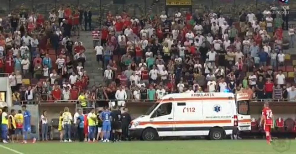 JEZIVE SCENE U RUMUNIJI: Trener Dinama doživeo srčani udar usred meča! Fudbaleri se hvatali za glave i molili Bogu (VIDEO)
