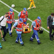 JOŠ JEDNA JEZIVA SCENA NA EP: Fernandeš prebačen u bolnicu! Oglasila se reprezentacija Rusije (VIDEO)