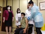 Japanac Takakomi Asahi vakcinisan u niškom Domu zdravlja