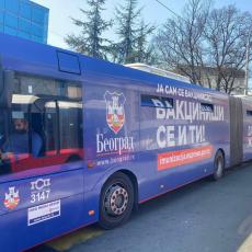 """Javno komunalno preduzeće GSP """"Beograd"""" nastavilo da podržava kampanju """"Covid 19-vakcinacija čuva zdravlje i život"""""""