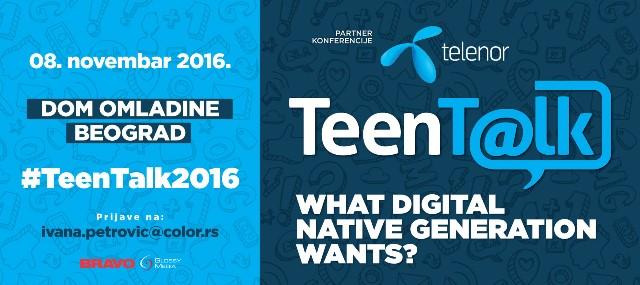 Još 4 dana do konferencije #TeenTalk2016 – rezerviši svoje mesto!