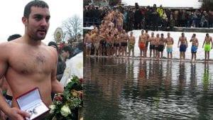 Jovan Todorović pobednik plivanja za Bogojavljenski krst u Užicu