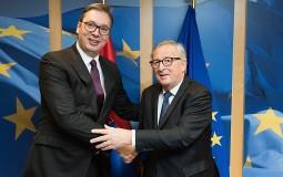 Junker se sastao sa predsednikom Srbije Vučićem