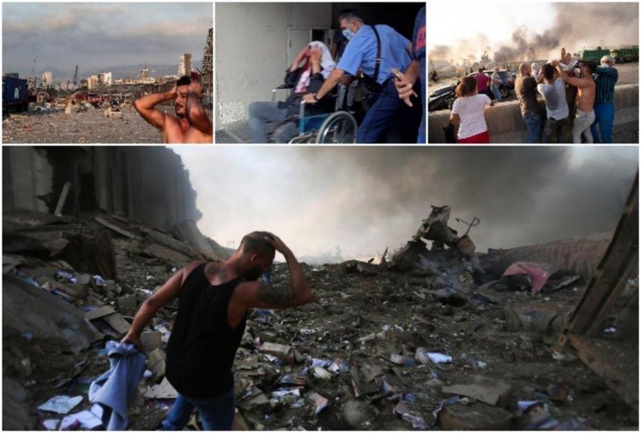 KAO DA JE PALA ATOMSKA BOMBA: Ovako izgleda Bejrut posle razornih eksplozija! Čitav grad u ruševinama, bolnice prepune