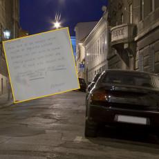 KAPA DOLE ZA TOG GOSPODINA  Zagrepčanin traži čoveka koji mu je pritekao u POMOĆ i ostavio ovu PORUKU na automobilu! (FOTO)
