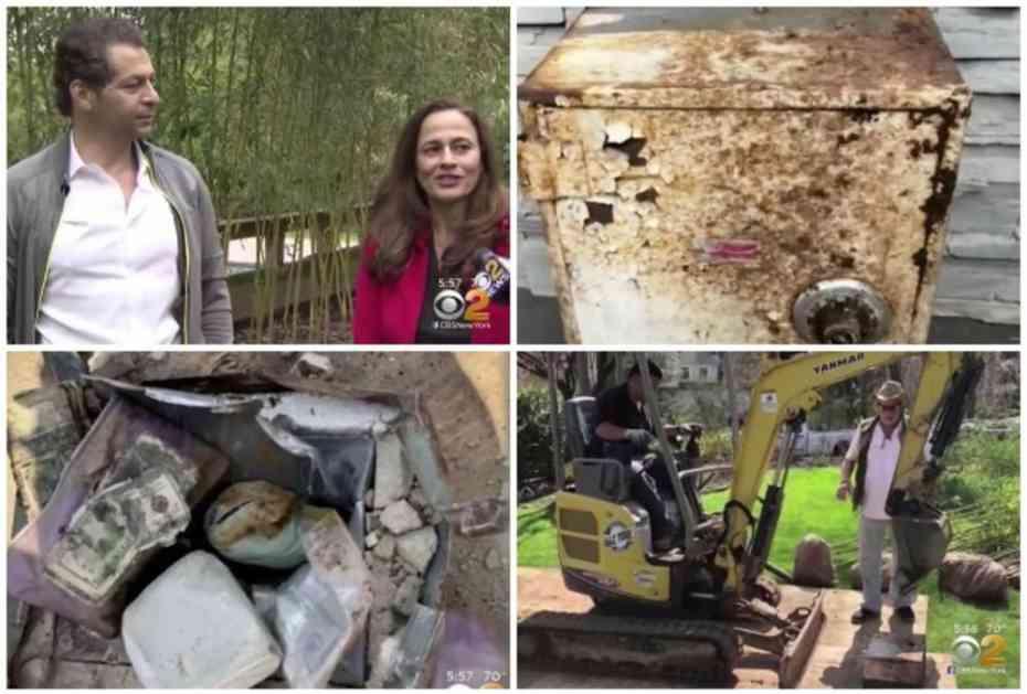 KOPALI RUPU IZA KUĆE, PA OSTALI U ŠOKU: Par pronašao SEF zakopan u dvorištu, a kad čujete šta je bilo u njemu... (FOTO, VIDEO)