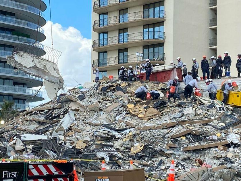 KRAJ POTRAGE Pronađeni ostaci 98. žrtve obrušavanja zgrade u Majamiju