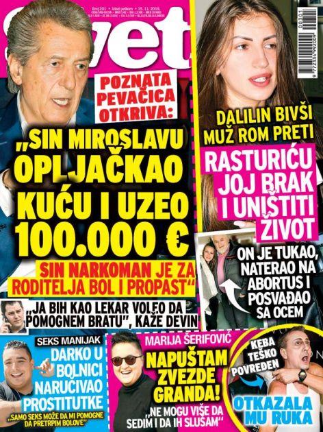KUPITE NOVI SVET! Poznata pevačica otkriva: Sin Miroslavu opljačkao kuću i uzeo 100.000 evra! Dalilin bivši muž joj preti!