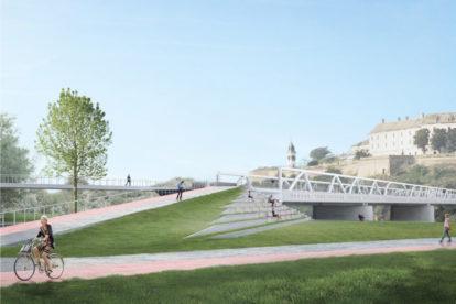 Kako će izgledati novi pešačko-biciklistički most u Novom Sadu (FOTO)