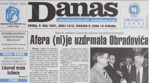 Kako je obeležen prvi Dan Evrope u Srbiji pre 20 godina