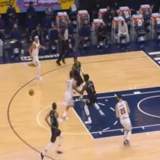 Kampaco kroz noge dodao loptu Jokiću, a onda je usledila ludnica na parketu (VIDEO)