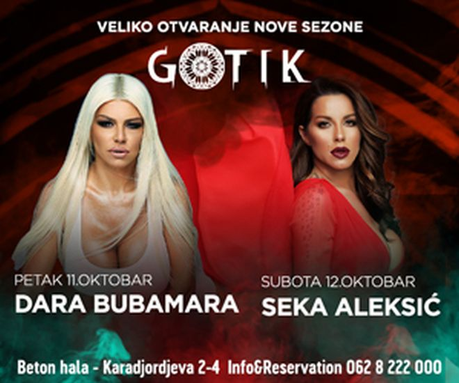 Klub Gotik nova sezona! Dara za otvaranje, Seka za reprizu!