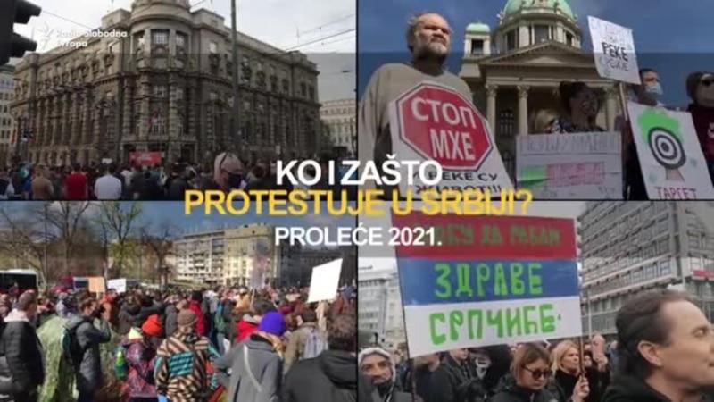 Ko sve i zašto protestuje u Srbiji - proleće 2021.