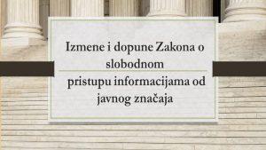 Koalicija za slobodu pristupa informacijama: Bitno ugrožena prava