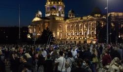 Policija se rasporedila ispred zgrade Predsedništva i Skupštine grada, nastavljaju se ...