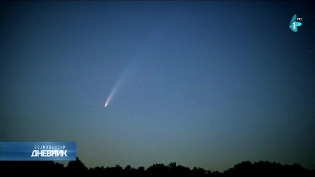 Kometa Neovajs na severozapadnom delu neba